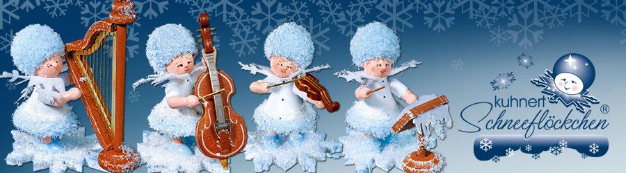 Schneeflöckchen mit Instrumenten